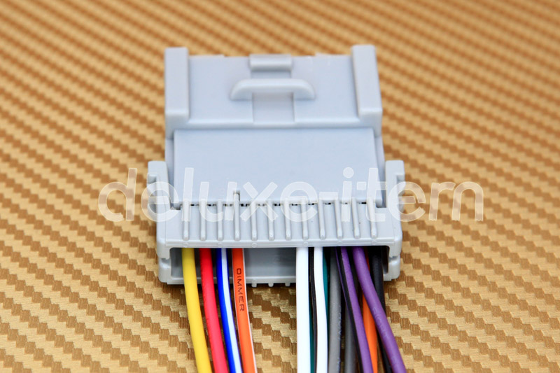 70 2003_04 new car stereo head unit wire wiring harness adapter for kia stereo wiring harness 2002 chevy trailblazer at bayanpartner.co