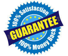 100% Satisfaction, Money Back Guarantee