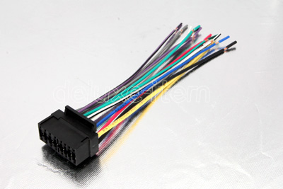 jvc car radio stereo 16 pin wire wiring harness cable click here to enlarge images