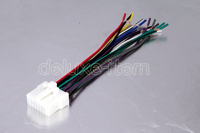 panasonic car radio stereo pin wire wiring harness  16 pin wire harness adapter for panasonic car stereo