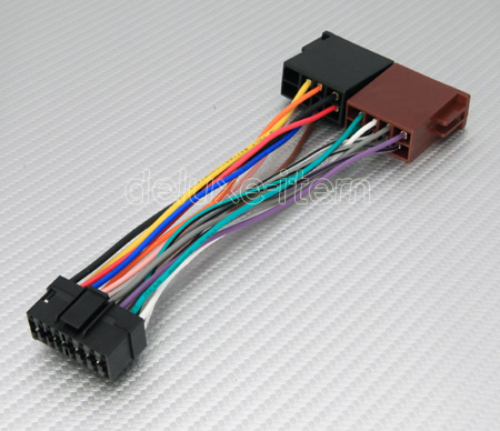 sony 16 pin iso car stereo radio audio wire wiring harness sony 16 pin iso harness adapter for car stereo