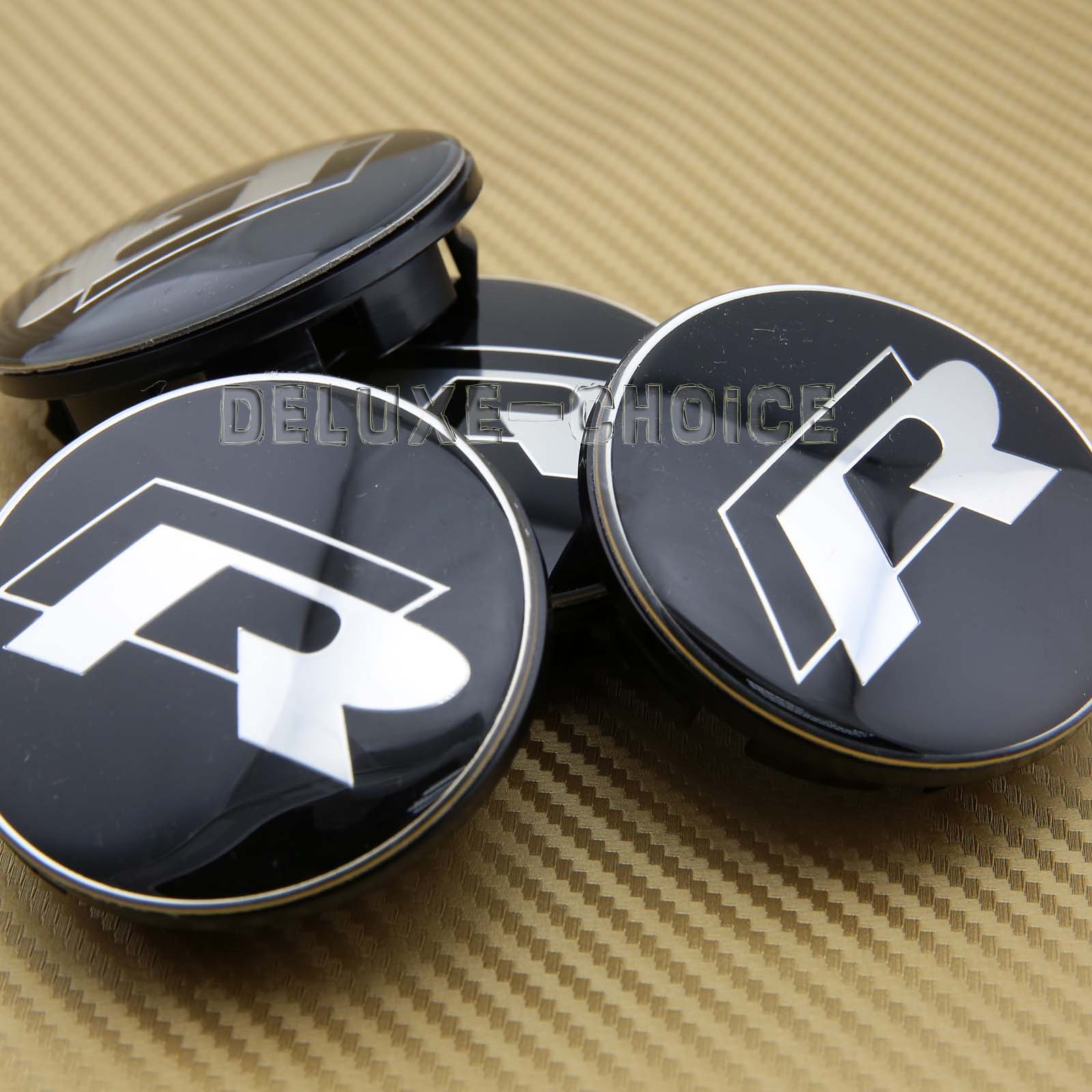 R Line Car Alloy Wheel Center Emblem Logo Cap Hub 65mm